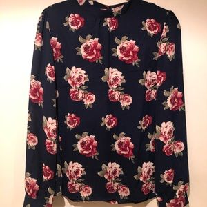 Forever 21 Women's Floral Blouse Size Large